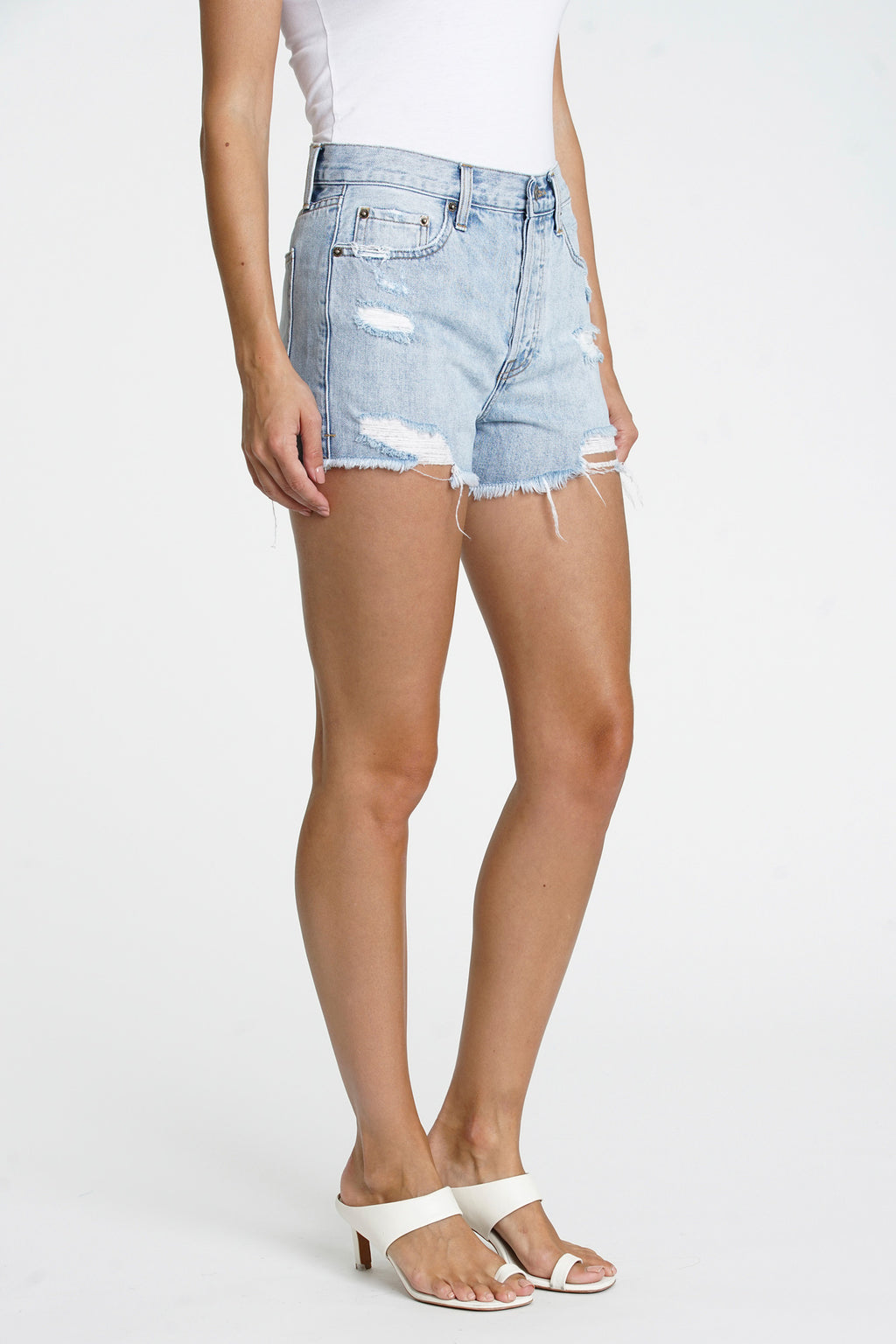 Nova High Rise Relaxed Cut Off - Cloud Nine