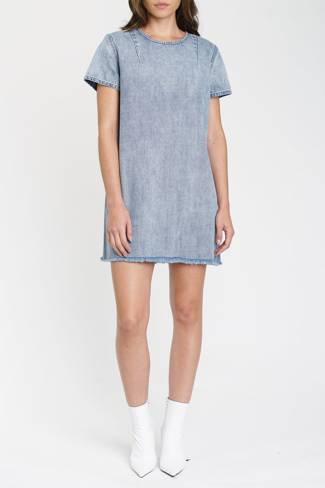 Gemma Short Sleeve Denim Dress- Key West