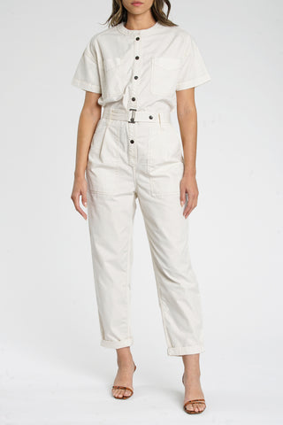 Freya Belted Field Suit - Antique White