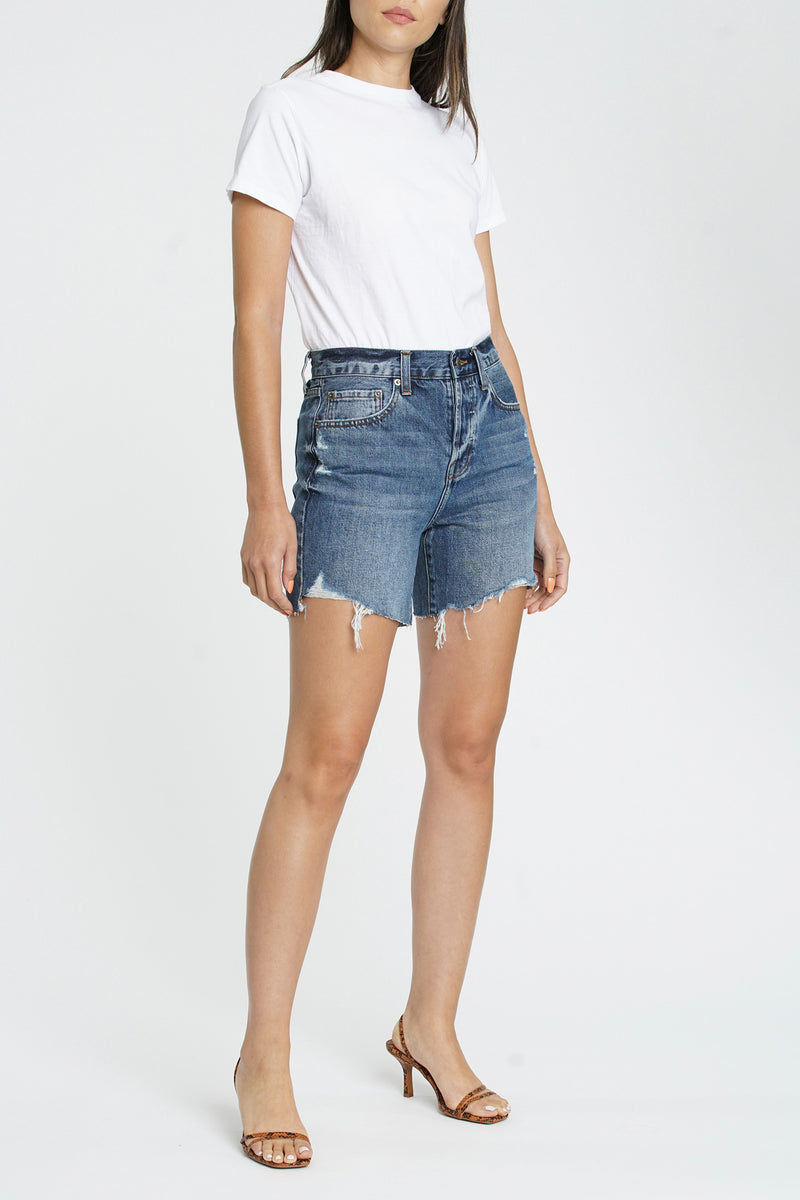 Devin High Rise Mom Cut Off - 111 Vintage