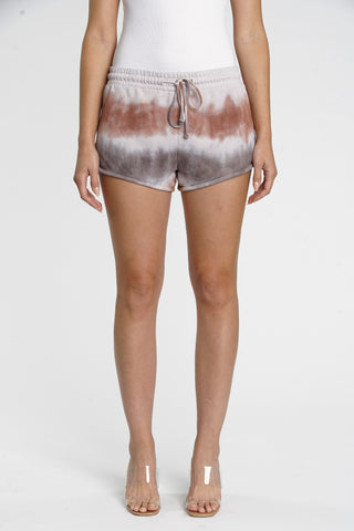 Ellie French Terry Track Short - Creme Rust