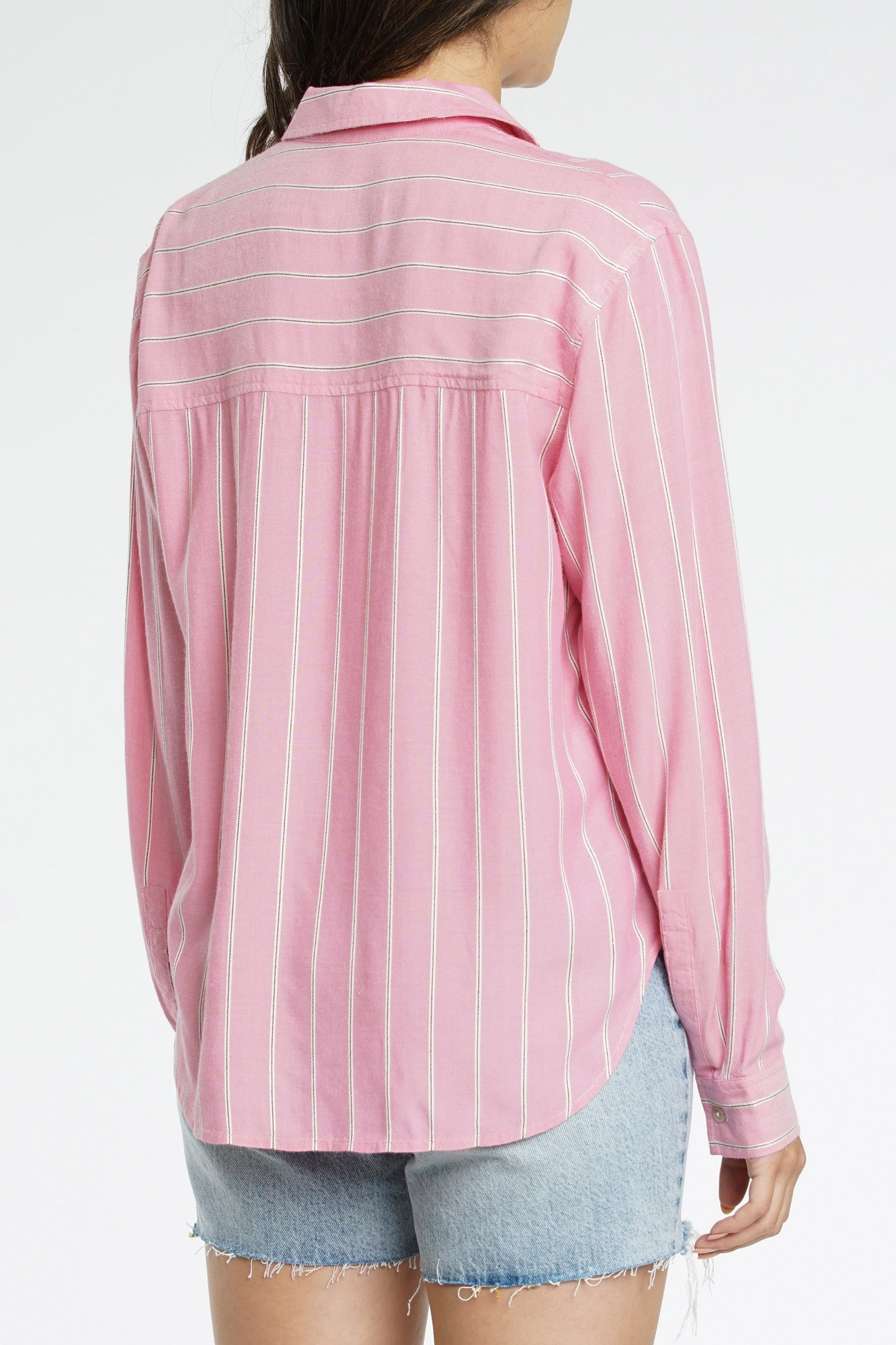 Evie Stripped Long Sleeve Button Up - Holland