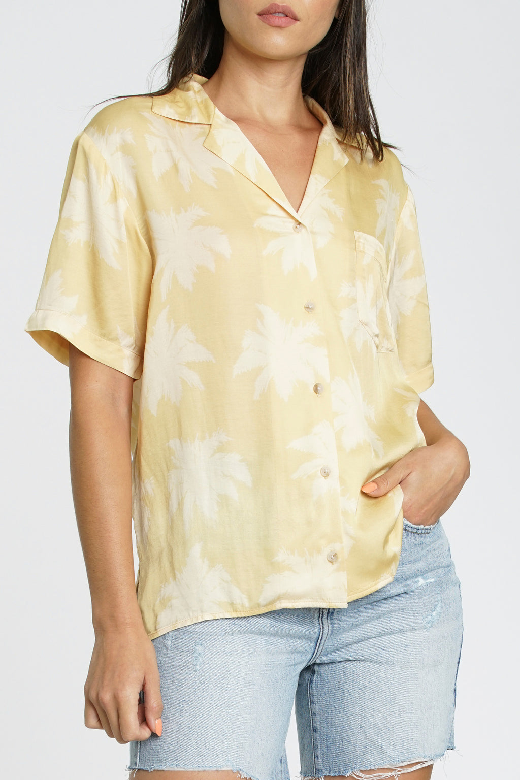 Anya Short Sleeve Hawaiian Shirt - Palm Springs