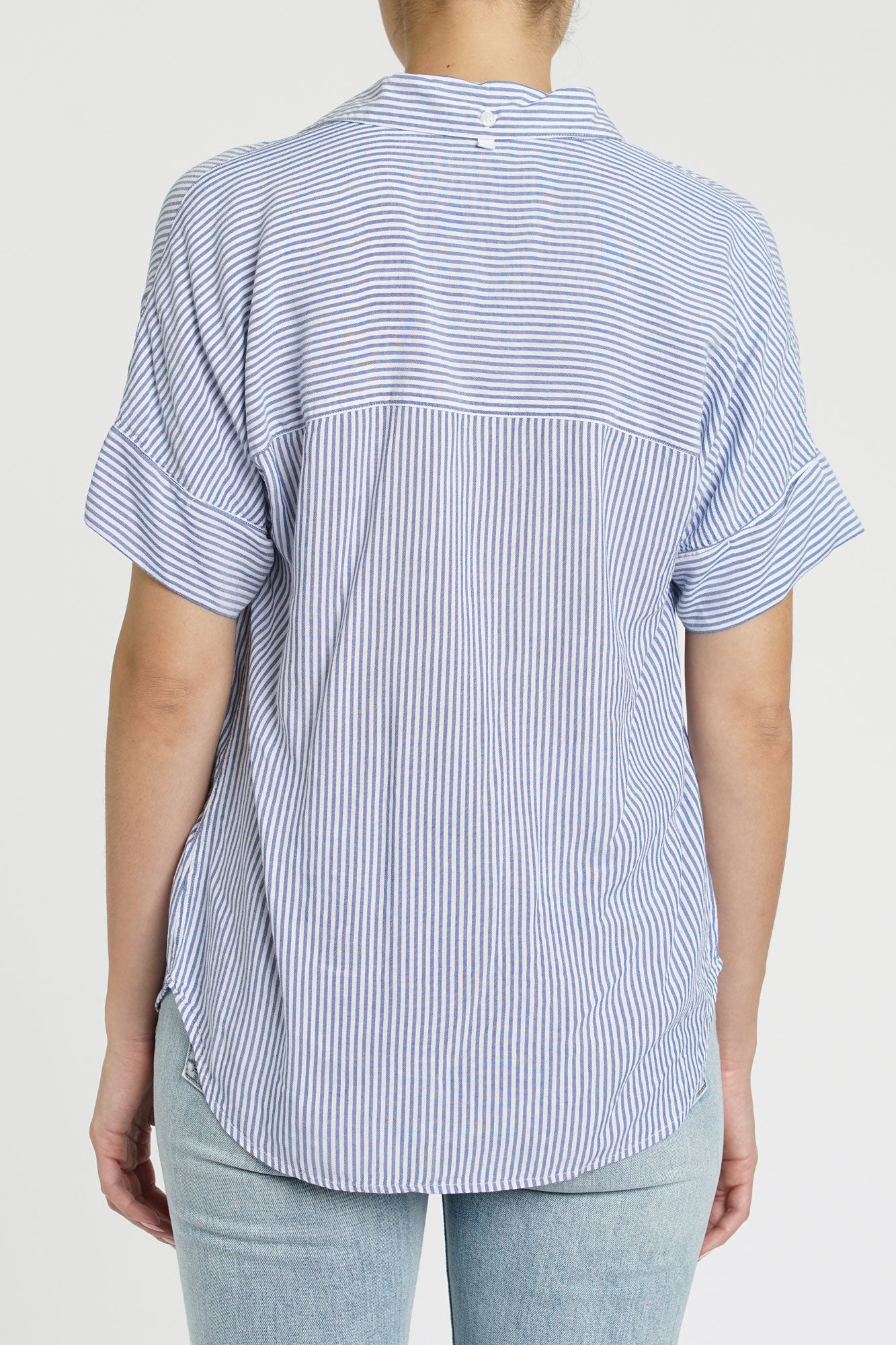 Avery Striped Short Sleeve Button Up - Bowler