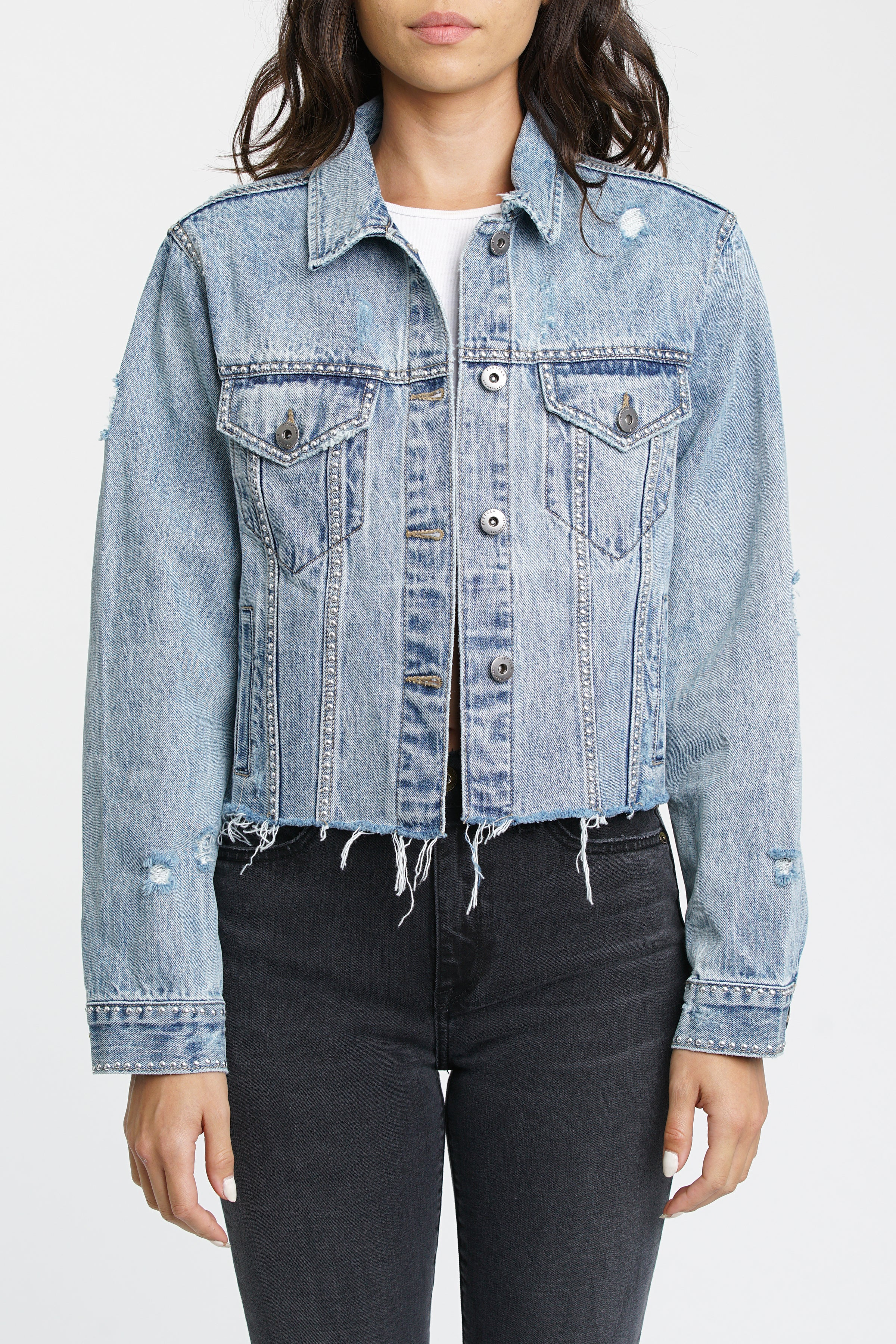 Naya Crop Boyfriend Denim Jacket - Miami
