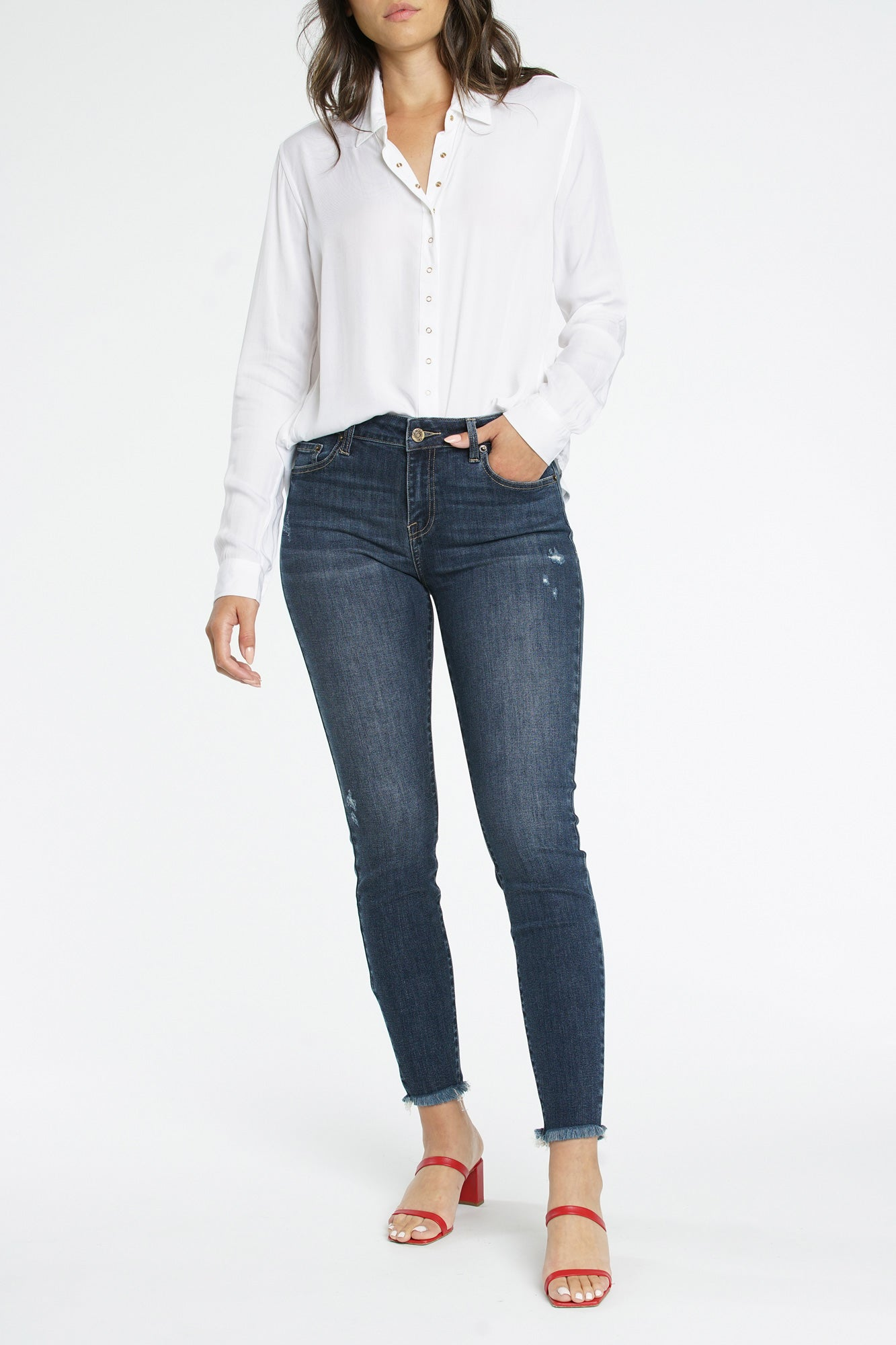 Audrey Mid Rise Skinny - Ready Steady