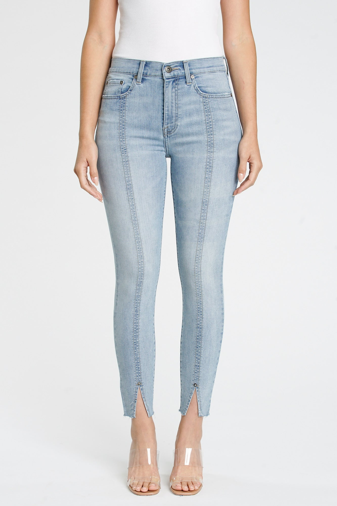 Aline High Rise Skinny - Cloud Nine