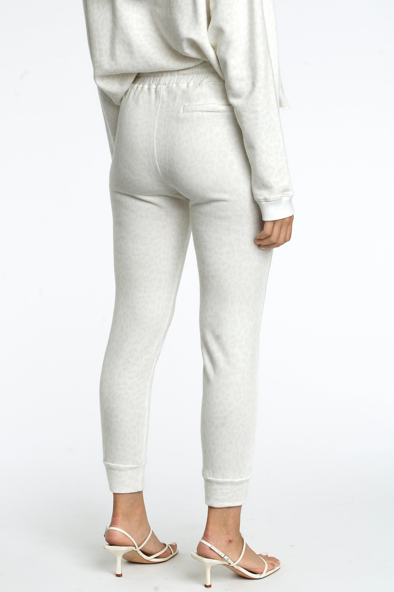 Alessa Slim Straight Leg Sweatpant - Wild Cat