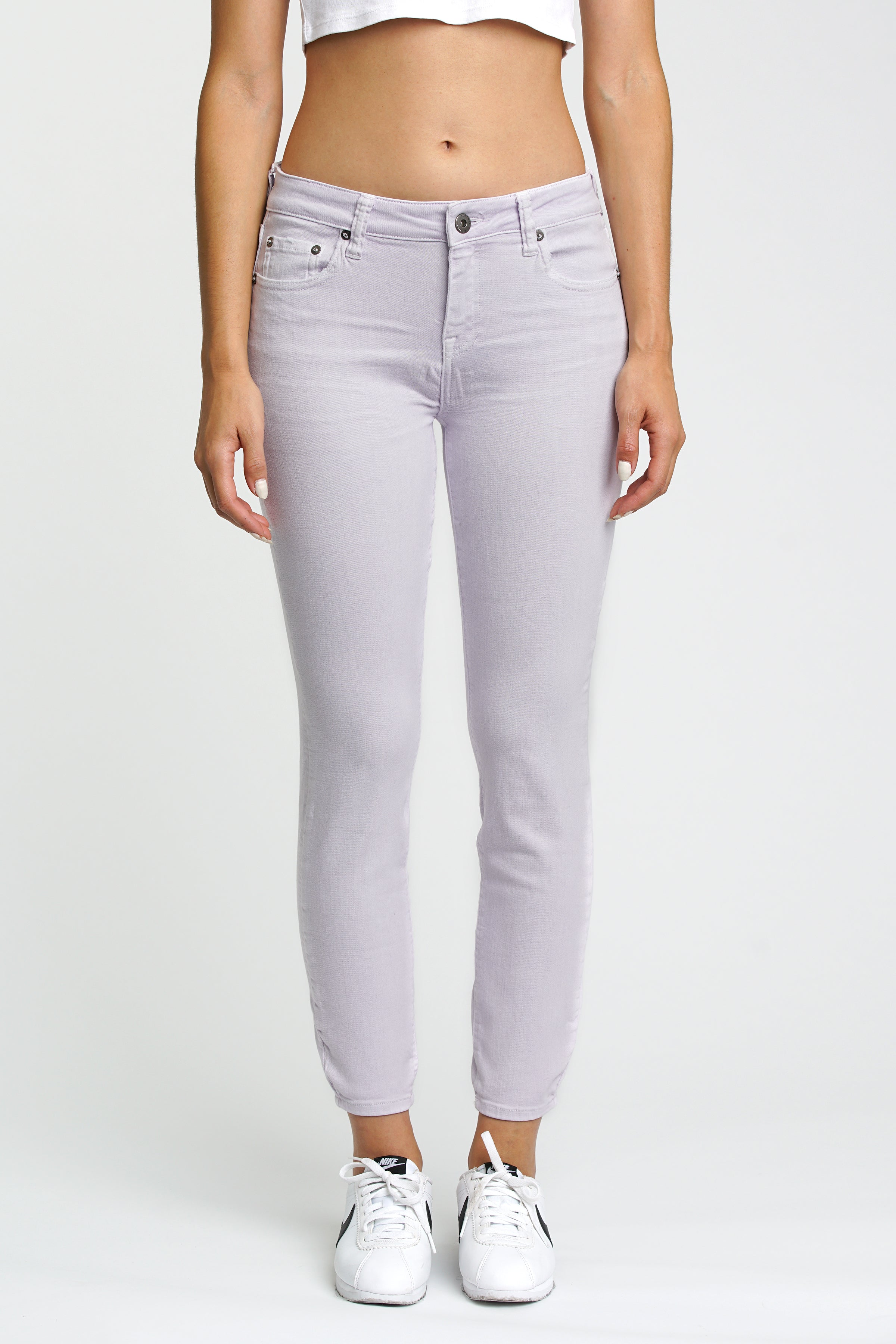 Aline High Rise Skinny - Lilac Field