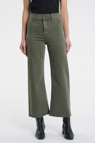 Penny Wide Leg Crop - Forest Green