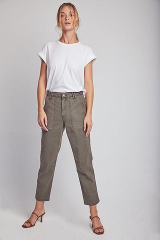 Erine Cropped Straight Leg Pants - Trenches