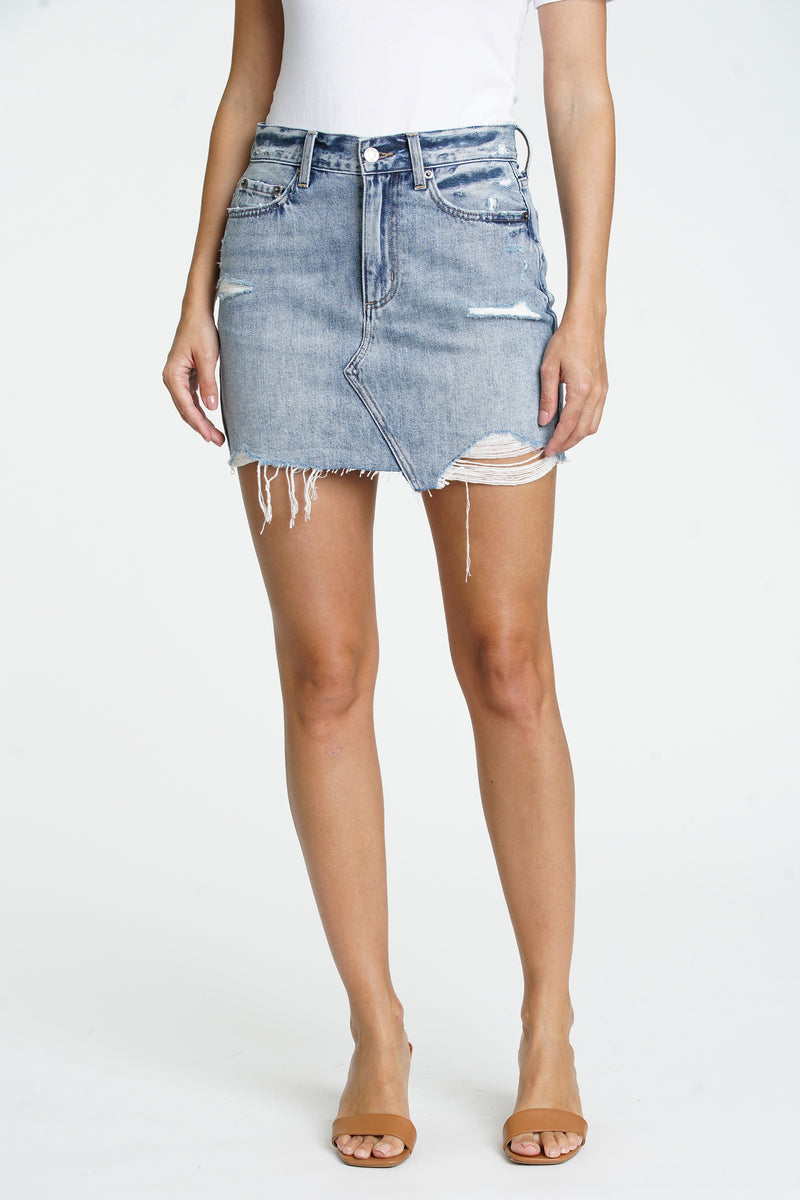 Rumi High Rise Cut Off Skirt - Heist
