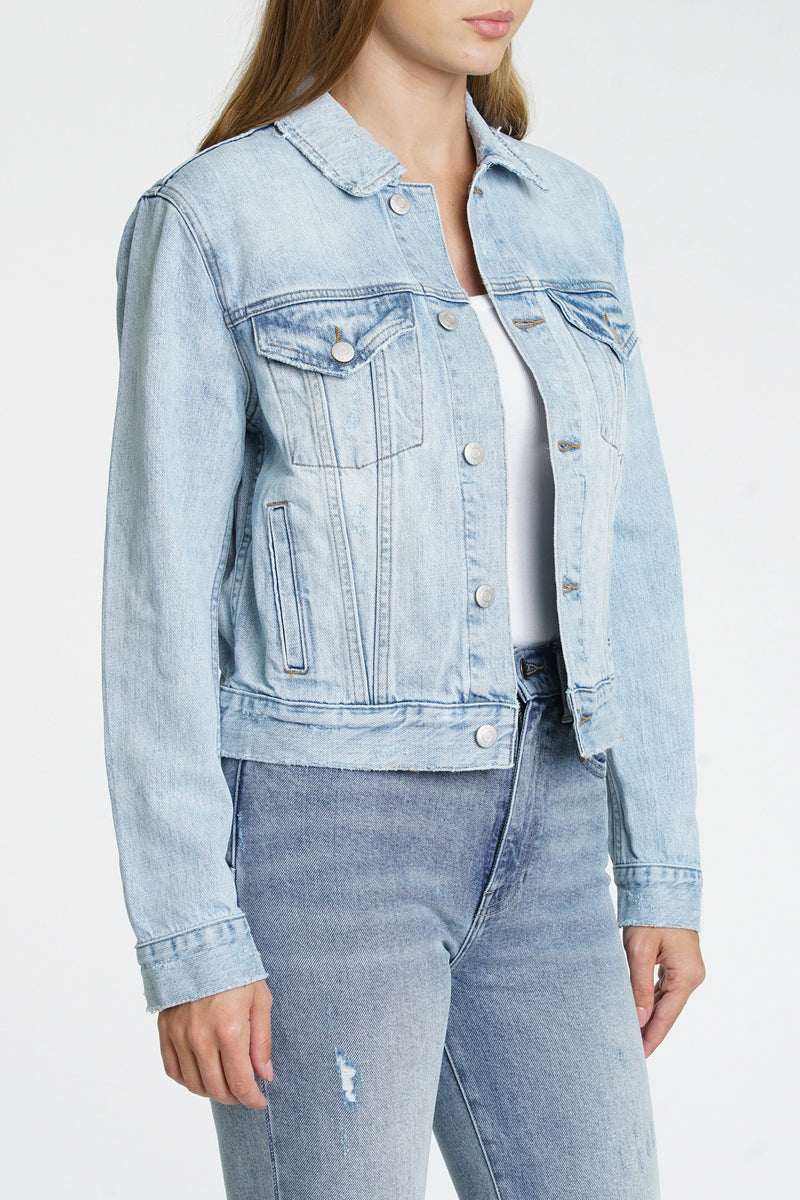 Saba Fitted Denim Jacket - By My Side