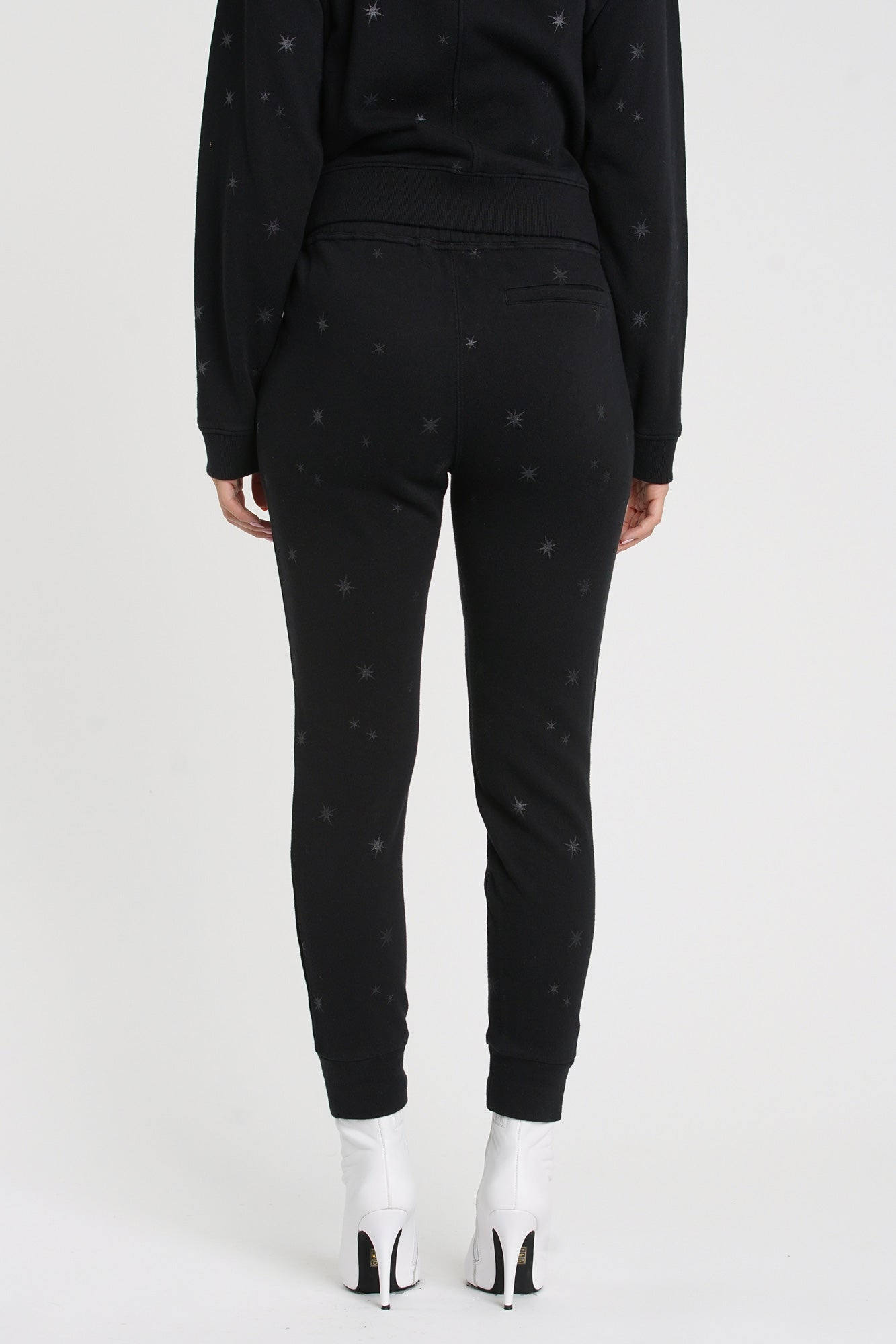 Alessa Metallic Star Print Sweatpants - Celestial Shade