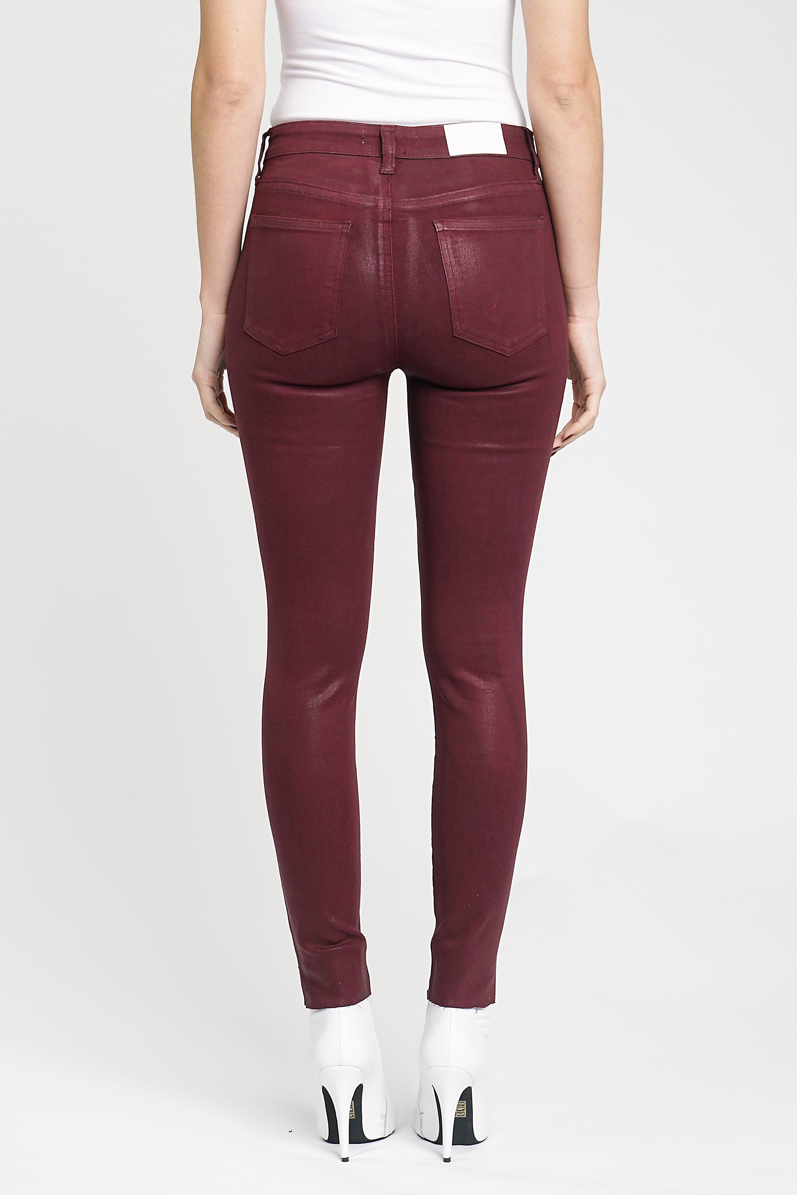 Aline High Rise Skinny - Coated Syrah