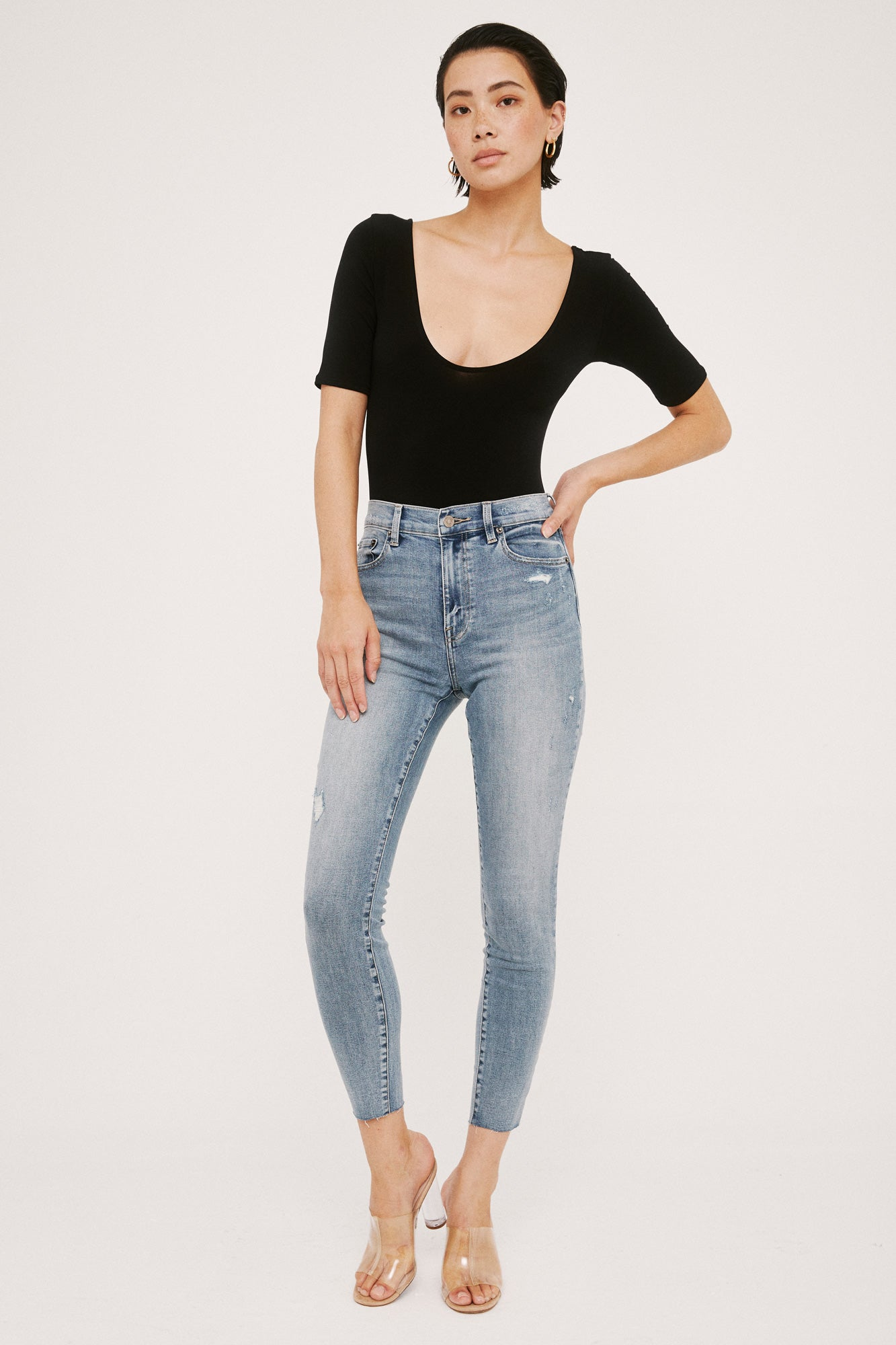 Aline High Rise Skinny - Marmont
