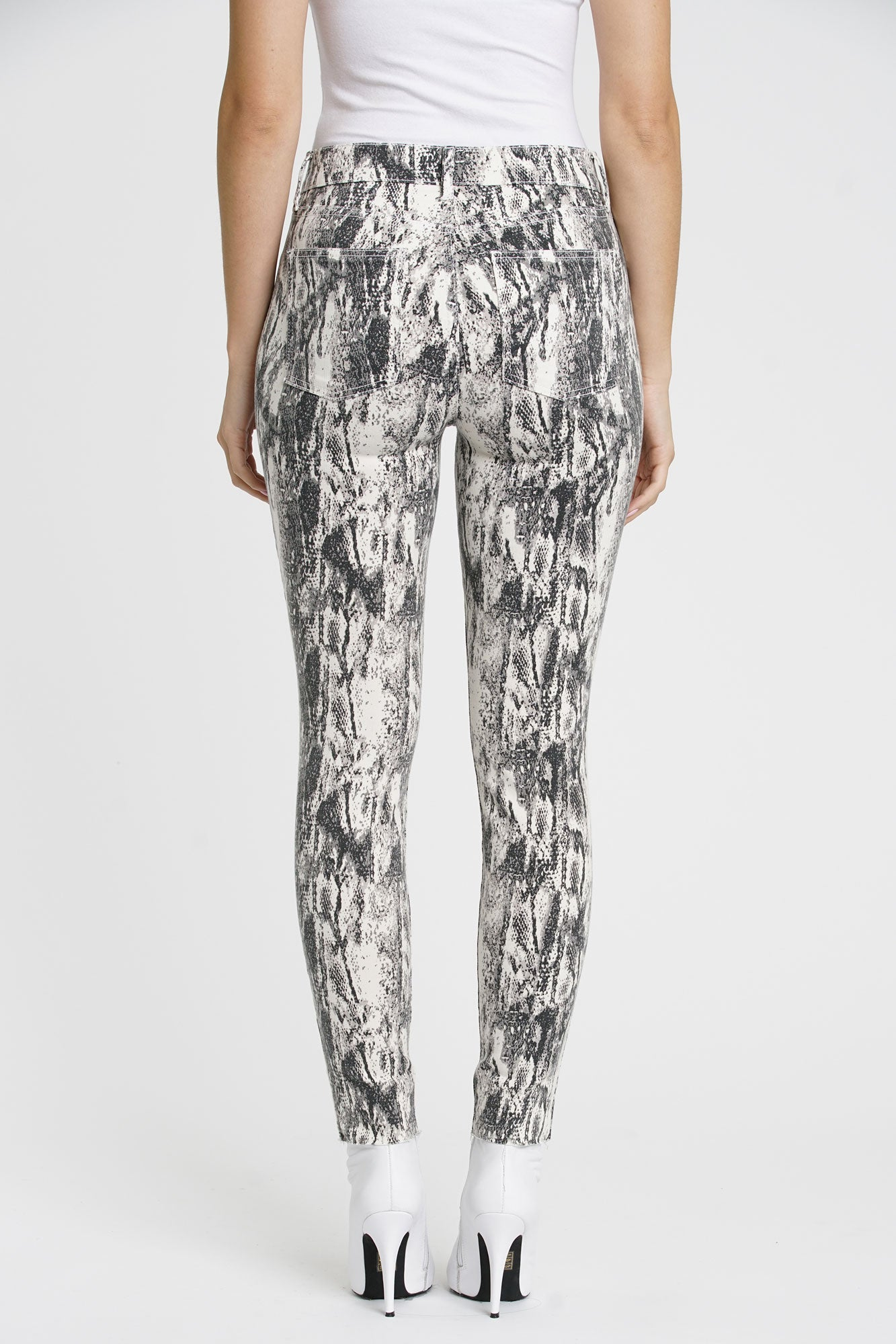 Aline High Rise Skinny - Winter Snake