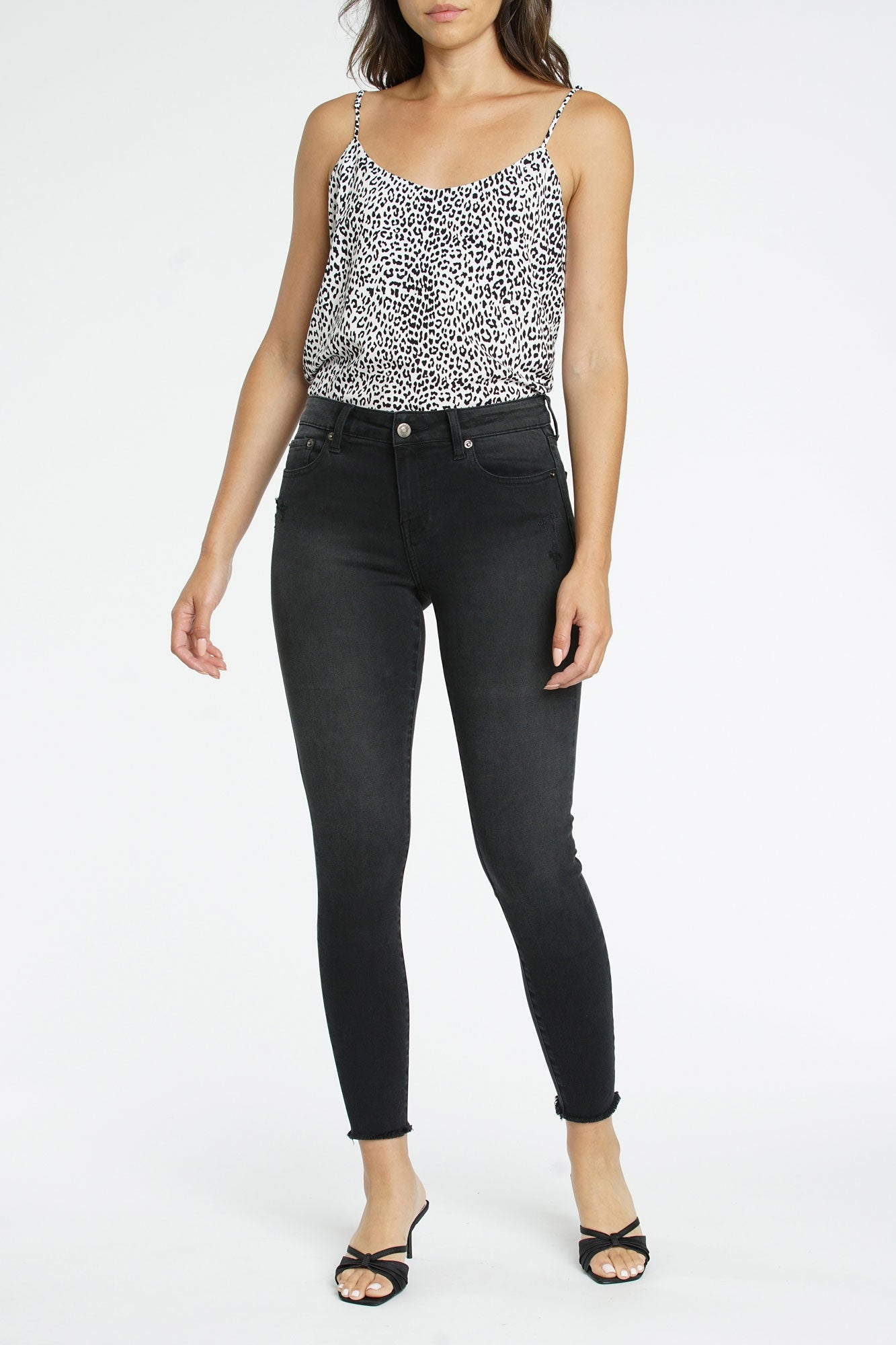Audrey Mid Rise Skinny - Licorice