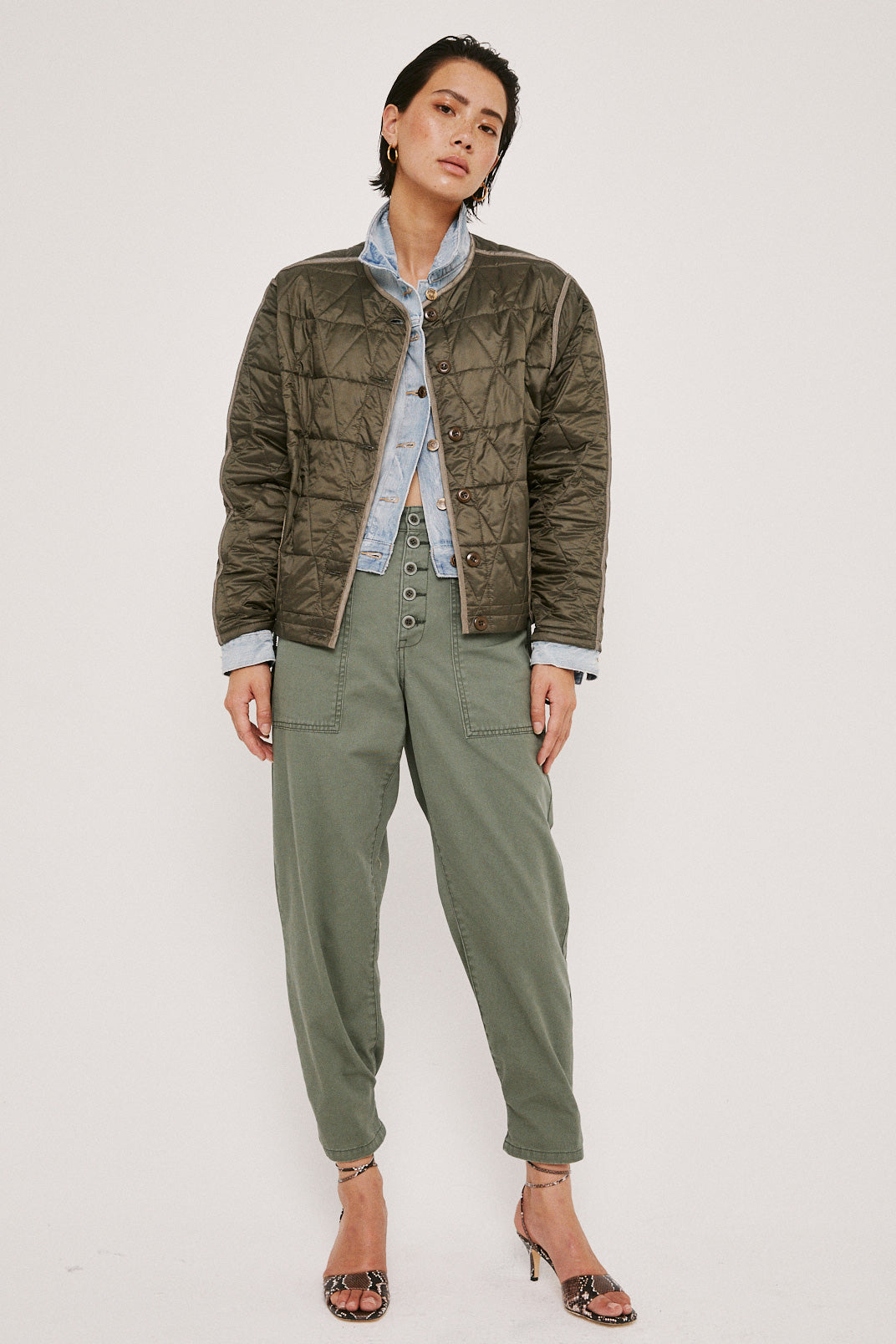 Azra Quilted Reversible Bomber - Glenhaven