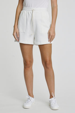 Cori French Terry Sweat Short - Le Blanc