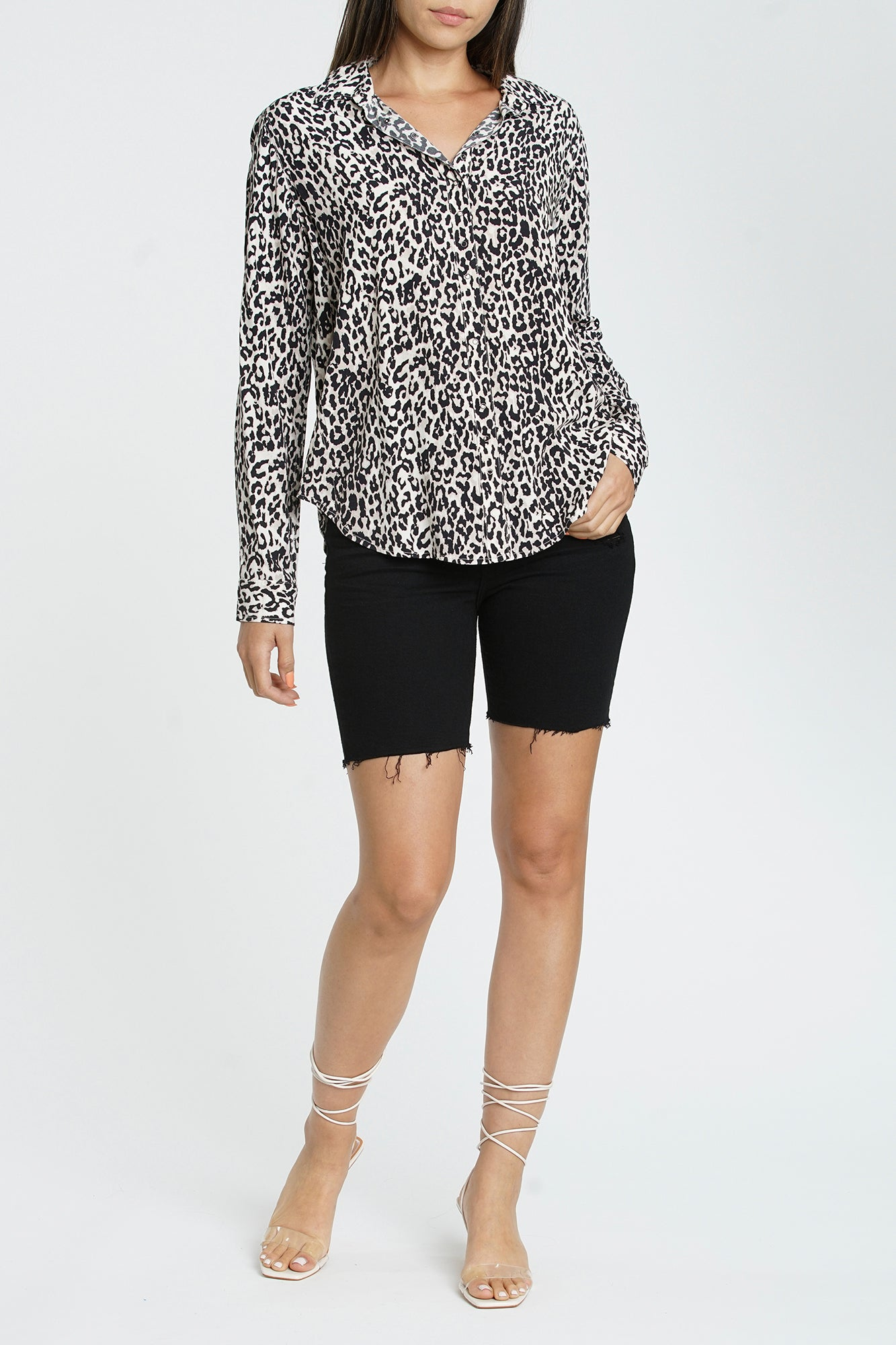 Elle Long Sleeve Snap Front Shirt - Sinai Wilder
