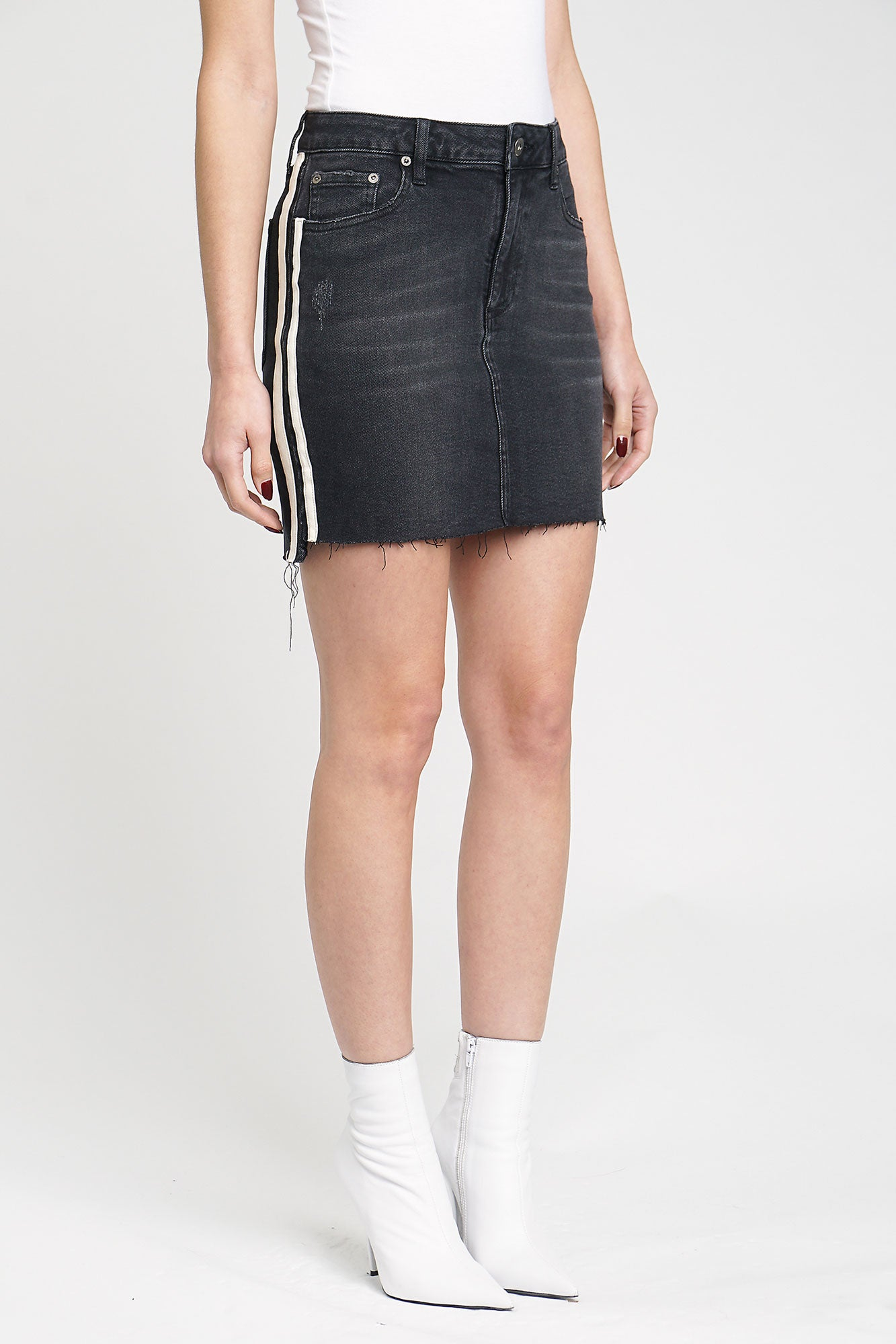 Harper High Rise High / Low Skirt - Berlin Night