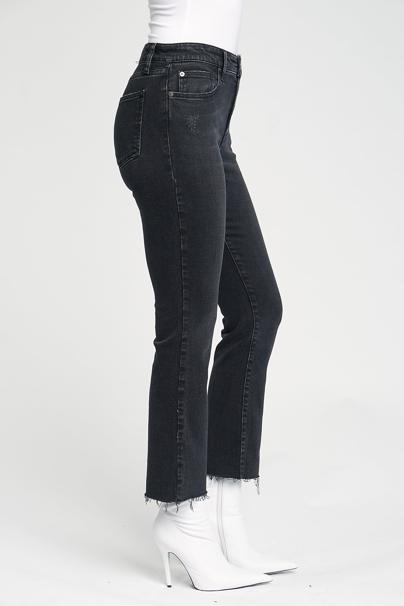 Lennon High Rise Crop Boot Cut - After Dark