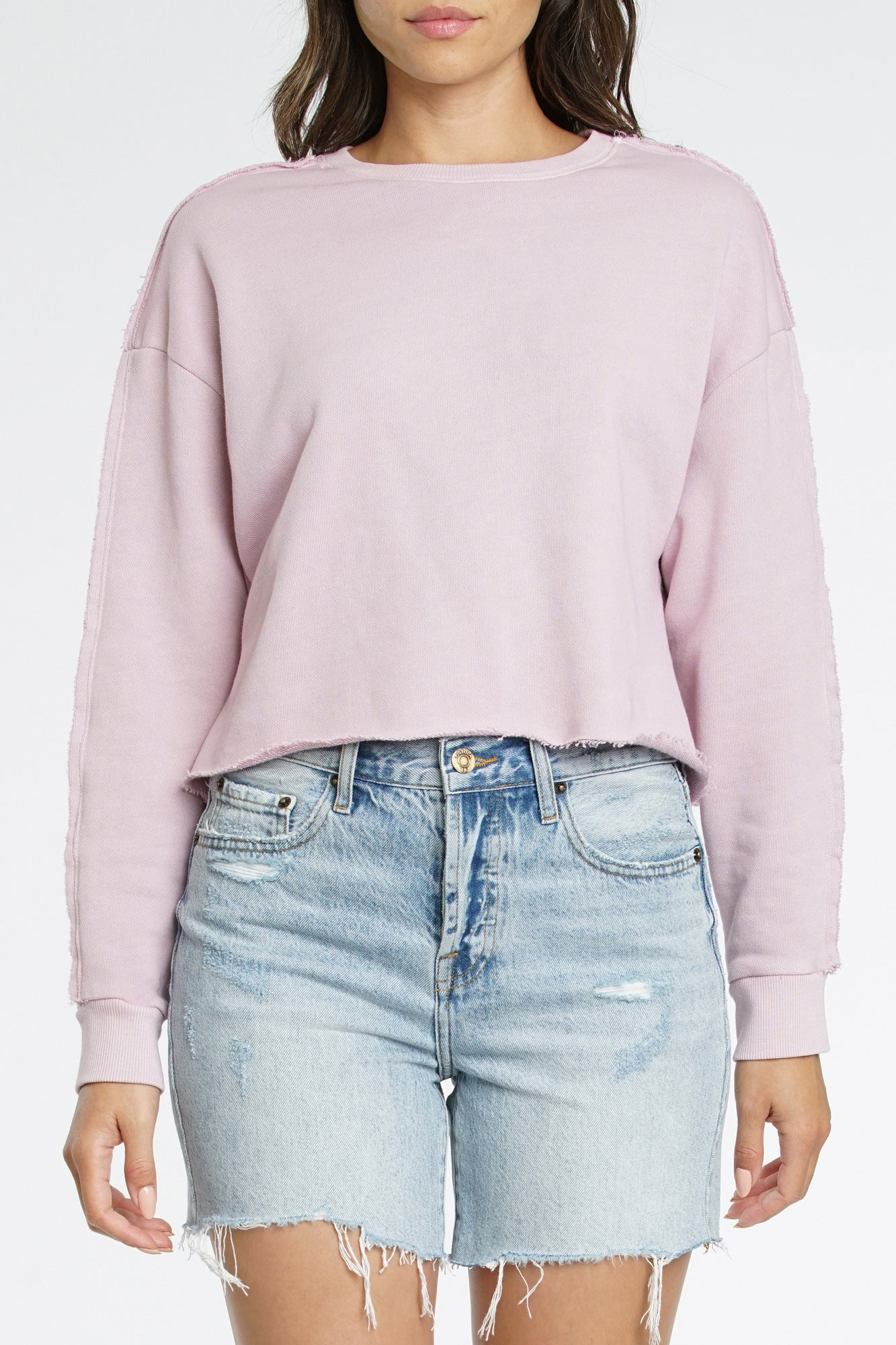 Leon Frayed Seam Sweatshirt - Melrose