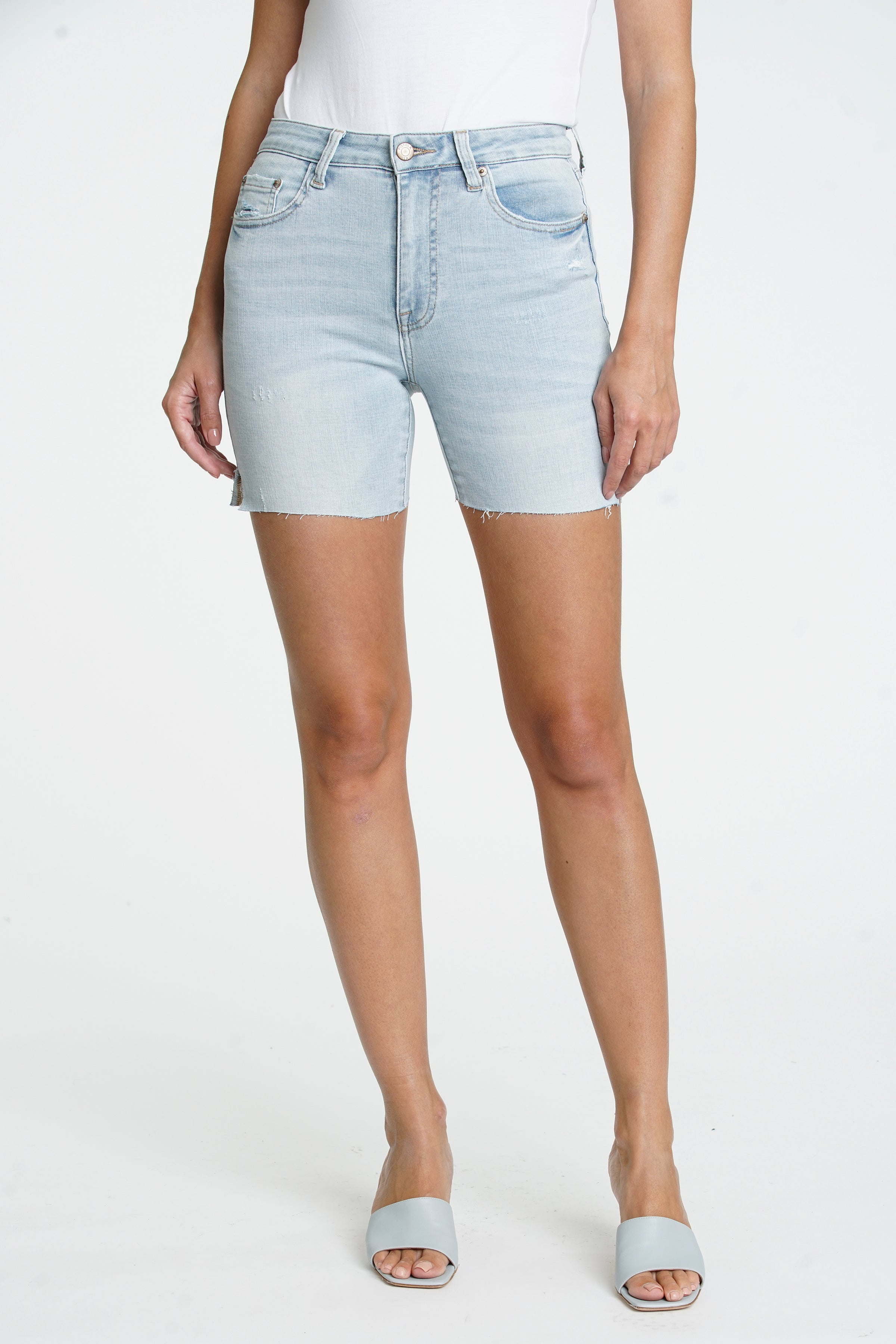 Aline High Rise Midi Short - Seeker