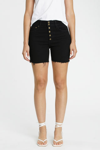 Aline High Rise Midi Short - Midnight Train