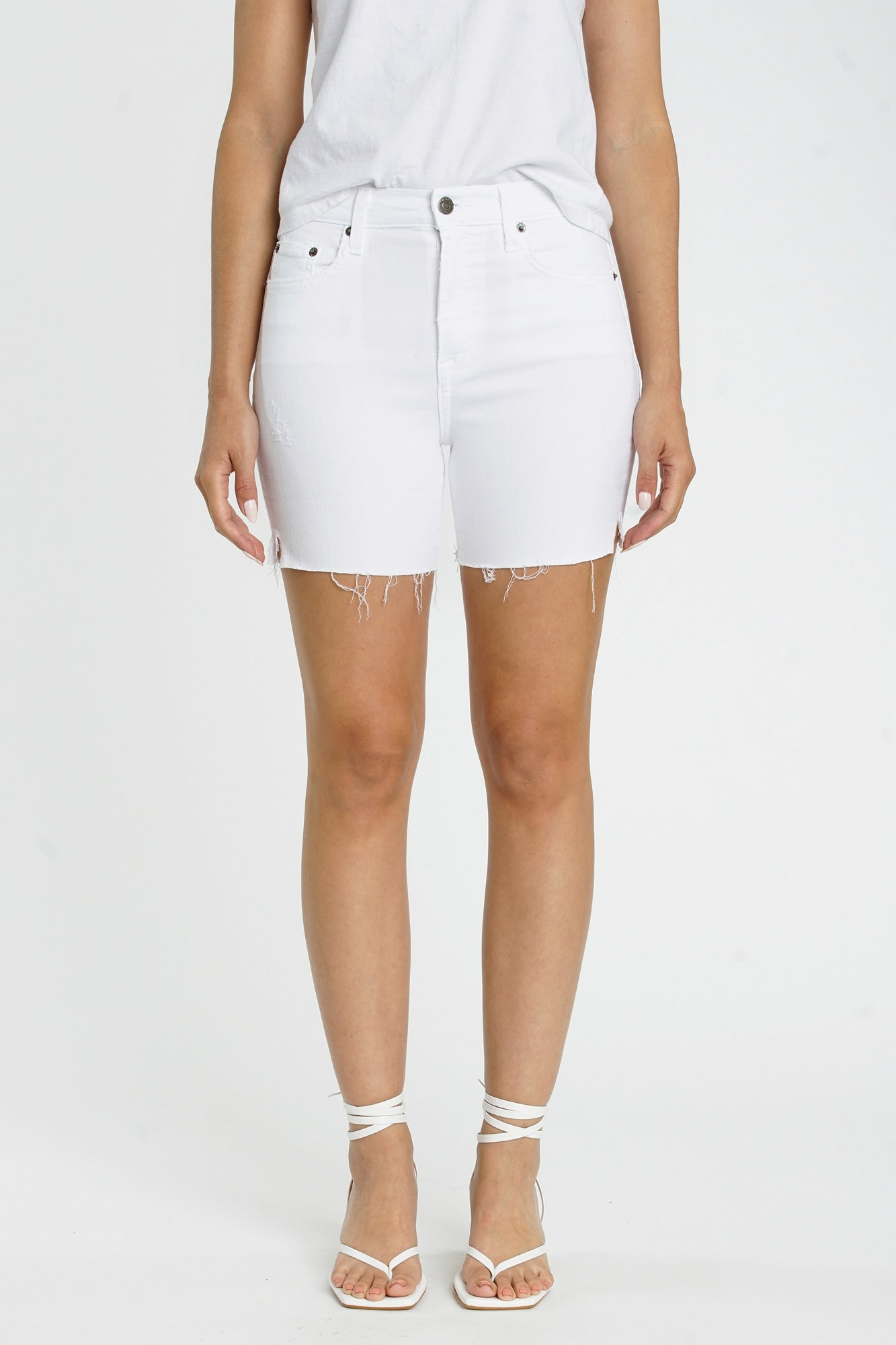 Aline High Rise Midi Short - Polarize