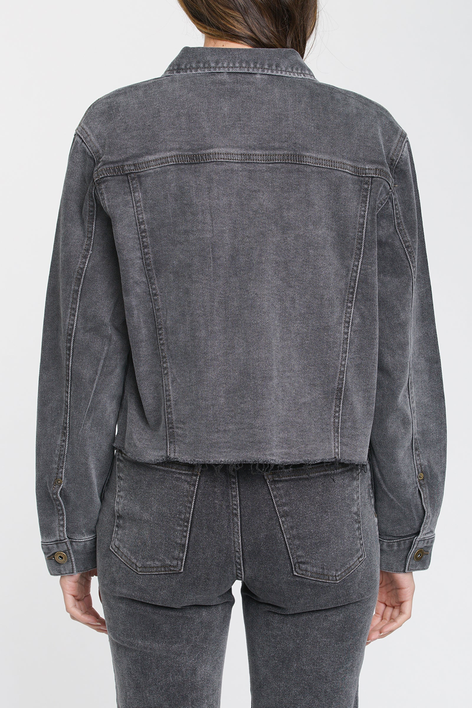 Naya Crop Boyfriend Denim Jacket - Memento