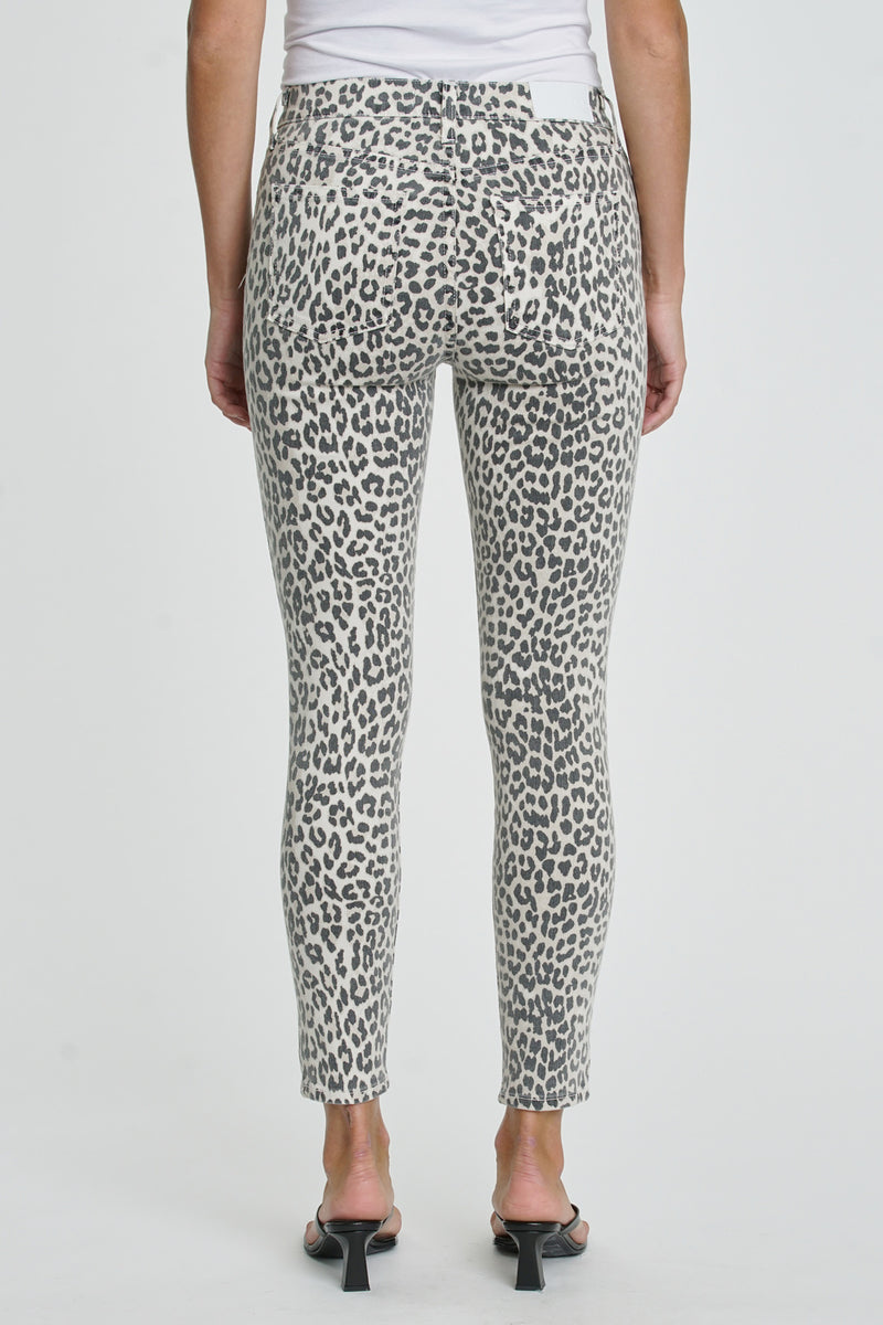 Aline High Rise Skinny - Cheetah Ecru