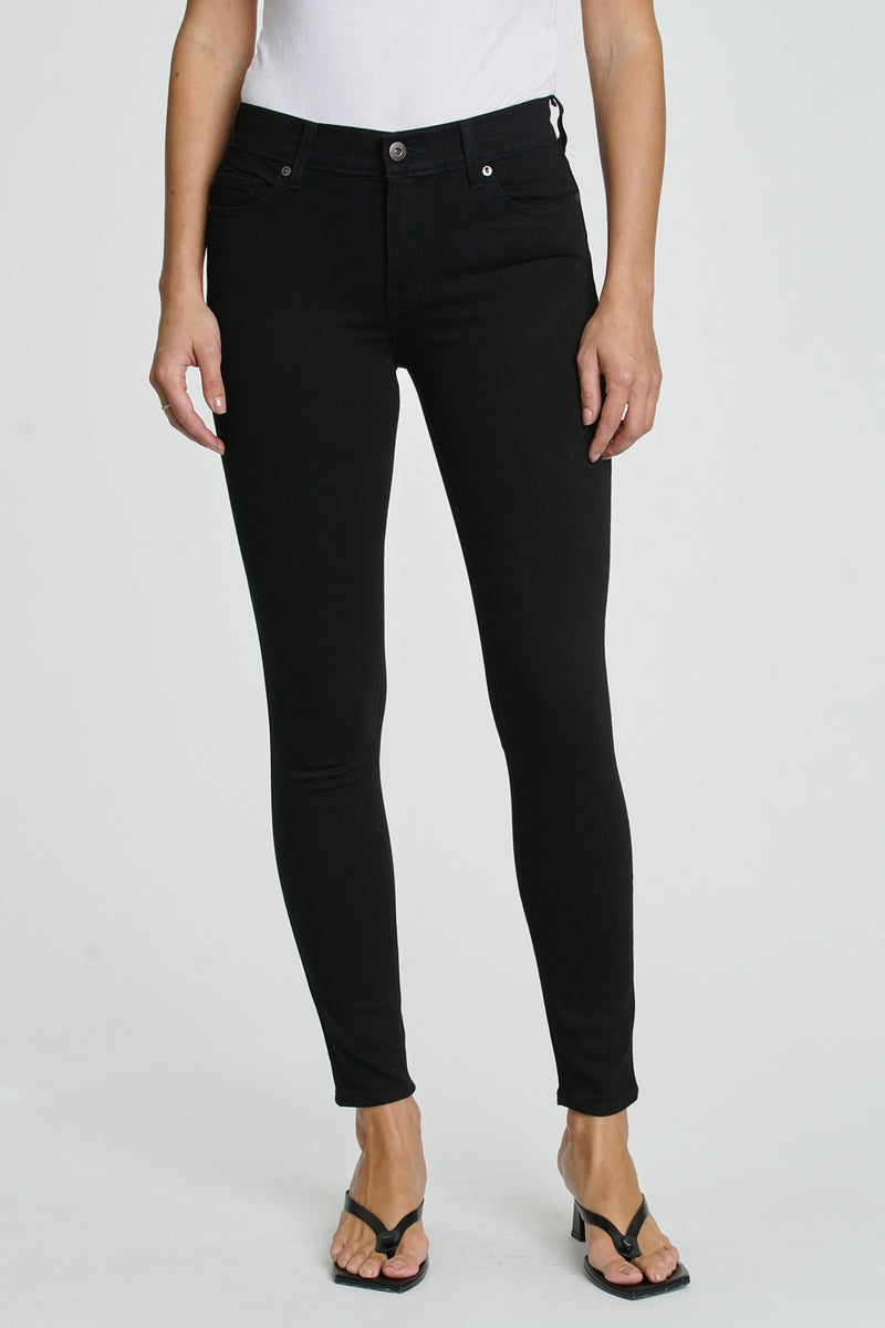 Audrey Mid Rise Skinny  - Onyx