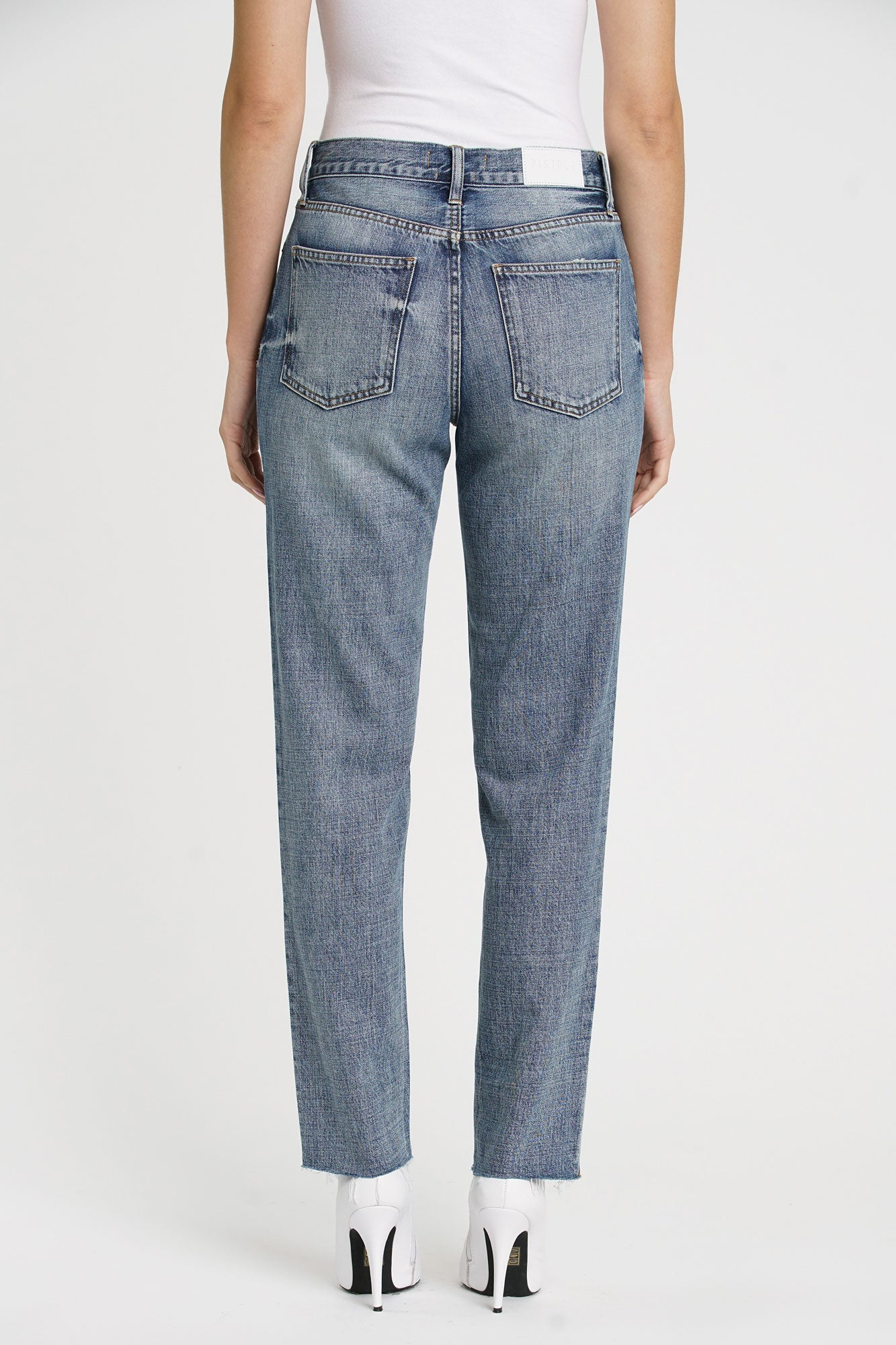 Presley Studded High Rise 90s Jean - Rocksteady