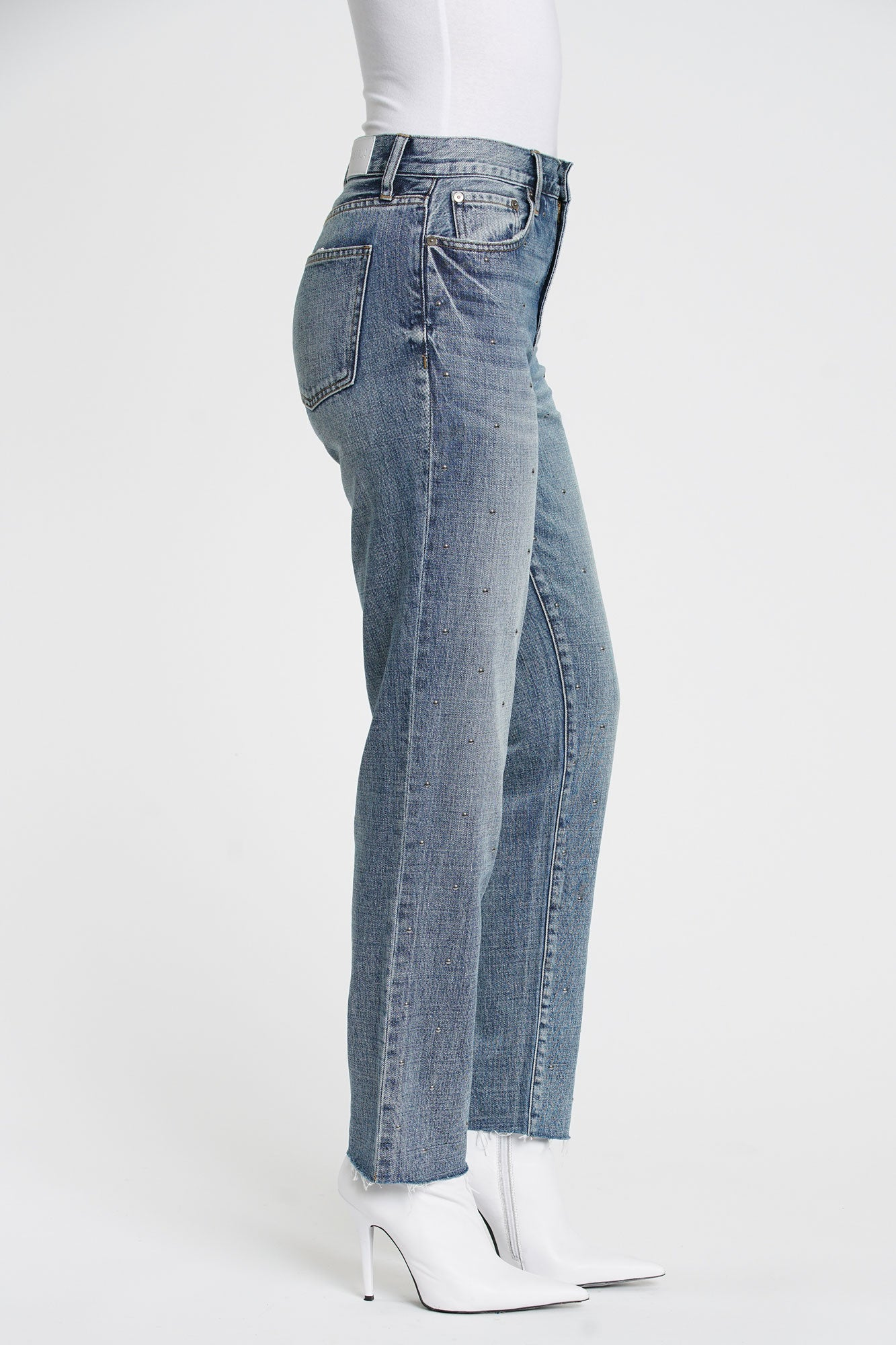 The Presley Studded High Rise 90s Jean - Rocksteady