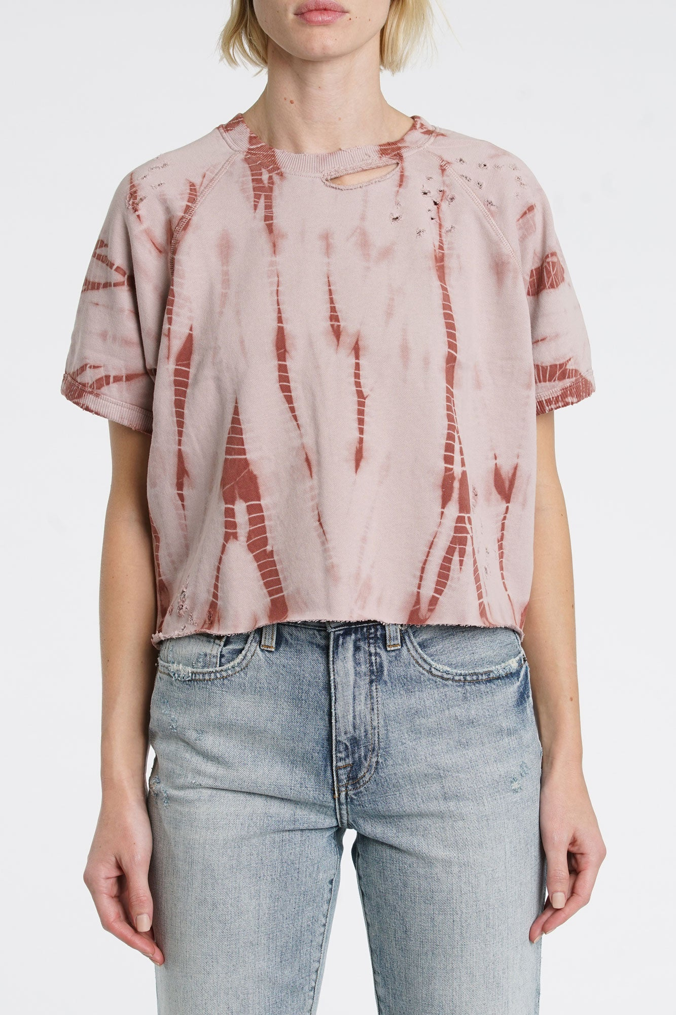 Raine French Terry Short Sleeve Shirt - Youre Blushing Rust