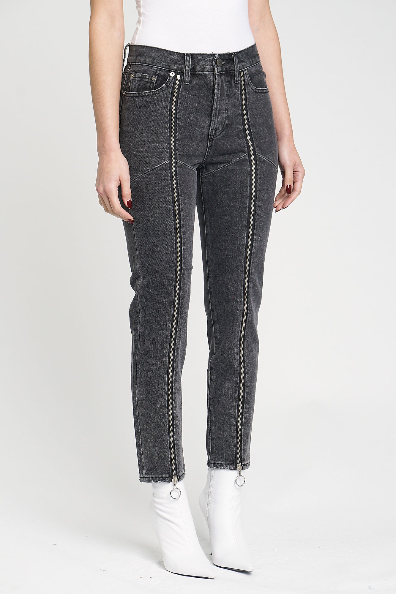 Zipper Nico High Rise Mom - Night Crawler