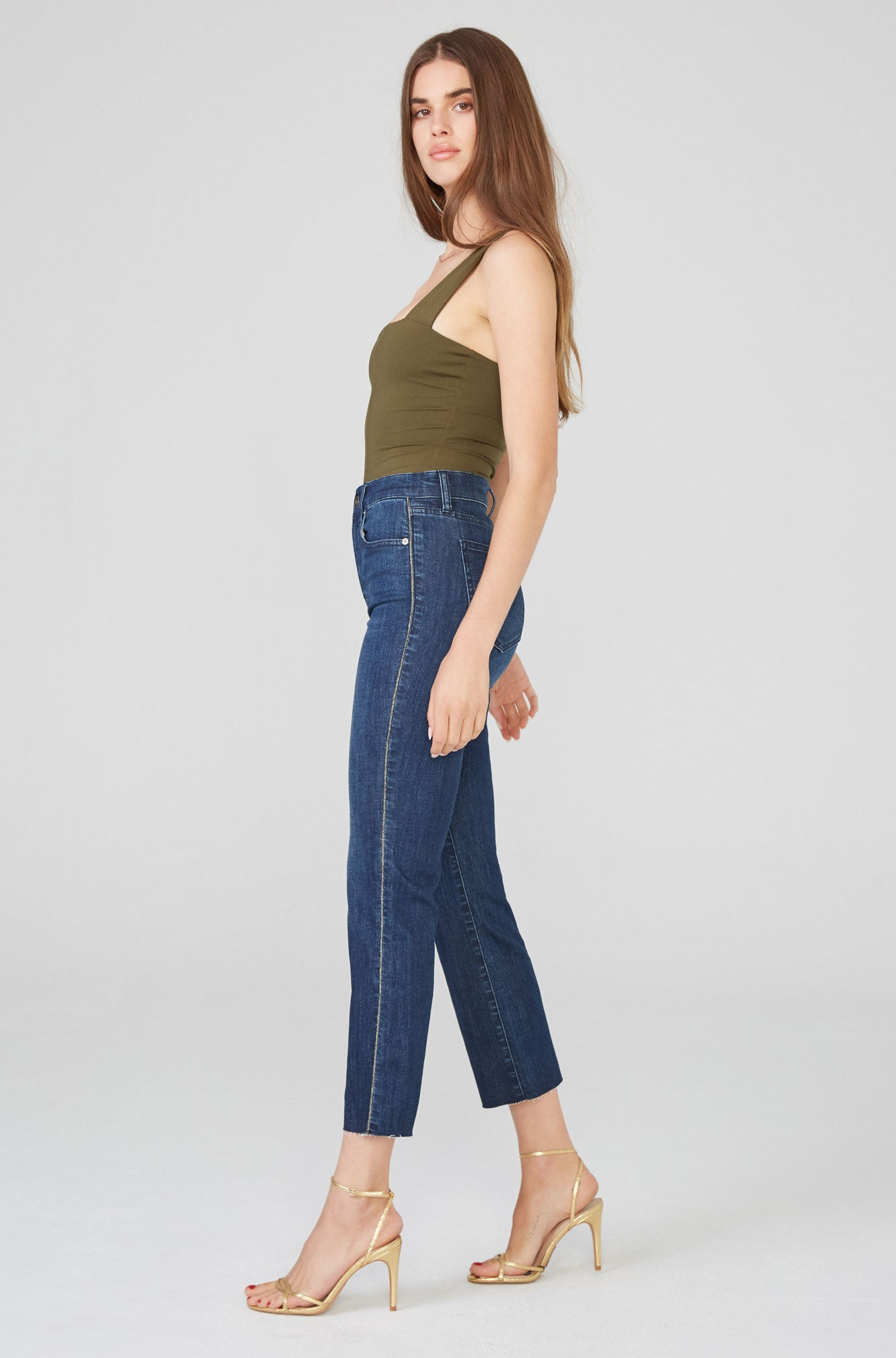 Lennon High Rise Cropped Boot Cut - Discretion