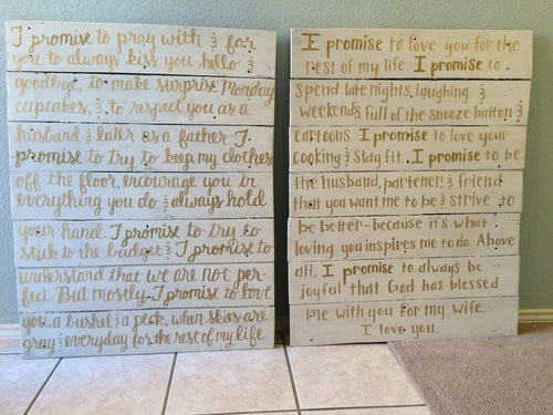 Custom Vows- Quote needed