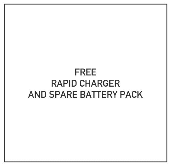 Free Battery and Rapid Charger