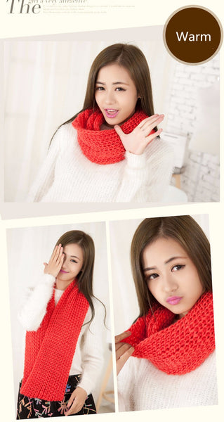 2017 Fashion New Unisex Winter scarf knitted Collar Neck Warmer woman's Crochet Ring Spain Loop women Scarves