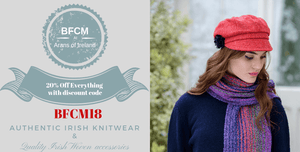 BFCM 20% off Storewide, best buy Aran Sweaters for your Winter Style, Mens Aran Sweaters and Womens Aran Sweaters, Authentic Irish Knitwear