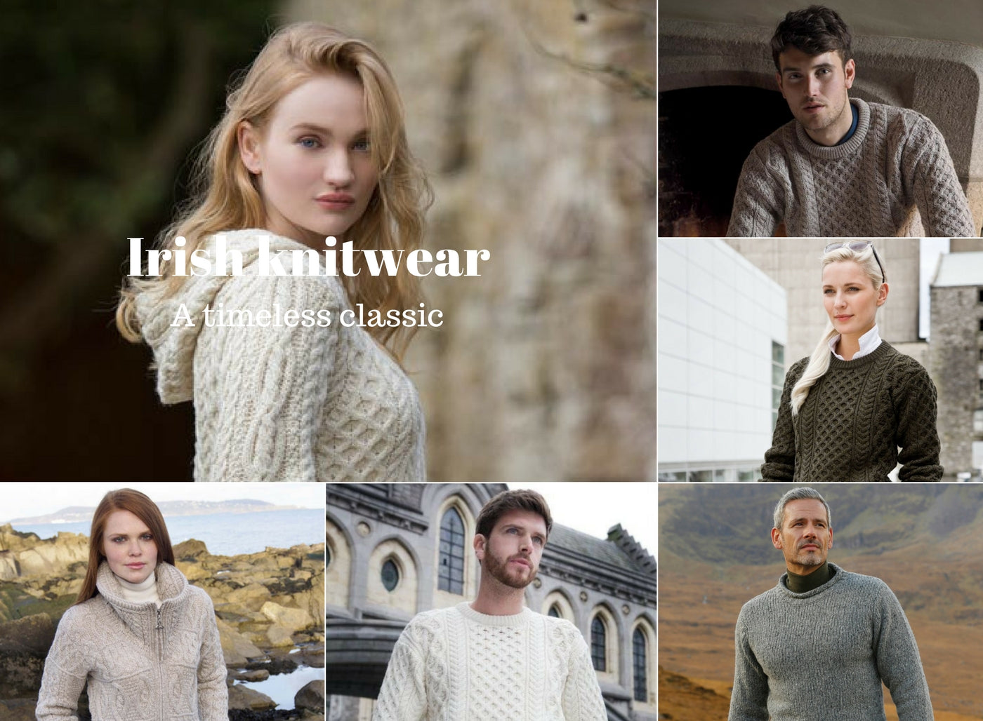 Irish Aran Knitwear, Aran sweaters, Irish sweaters Made in Ireland