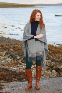 100% Irish Wool Shawl designed and made at the Aran Woolen Mills