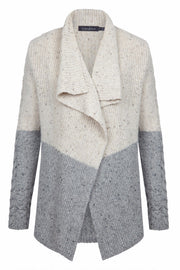 Two Tone Cable Cardigan Chalk/light