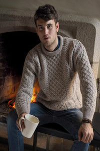 lightweight Aran Crew Neck sweater