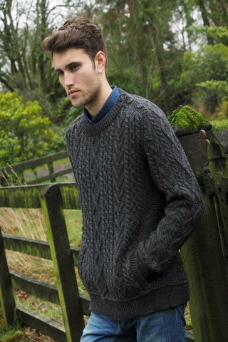 Men's Aran Sweater with pockets