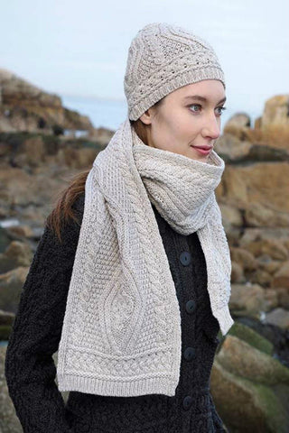 Aran Nua Collection Hat and Scarf