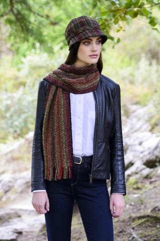 Muckros Weavers Skellig Scarf Brown Mix